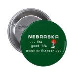 Welcome to Nebraska - USA Road Sign Pinback Button