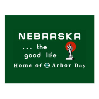 Welcome to Nebraska - USA Road Sign Postcard