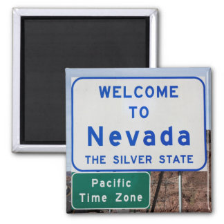 Welcome to Nevada 2 Inch Square Magnet