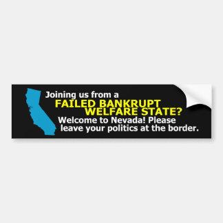 Welcome to Nevada sticker Car Bumper Sticker
