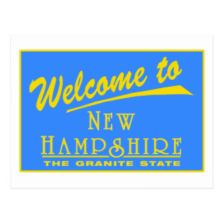 Welcome to New Hampshire - USA Road Sign Postcard