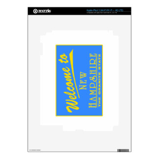 Welcome to New Hampshire - USA Road Sign iPad 3 Skins