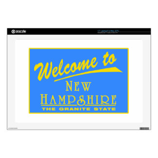 Welcome to New Hampshire - USA Road Sign Decals For Laptops