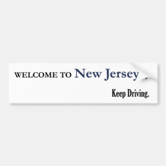 Welcome to New Jersey Car Bumper Sticker