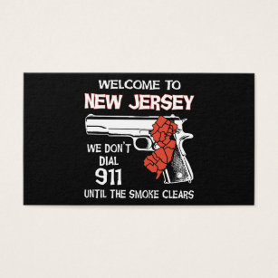 Birthday police business cards templates zazzle welcome to new jersey police t shirts business card reheart Choice Image