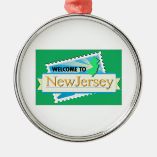 Welcome to New Jersey - USA Road Sign Ornaments