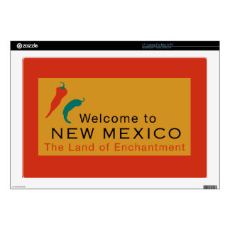 Welcome to New Mexico - USA Road Sign Decal For Laptop