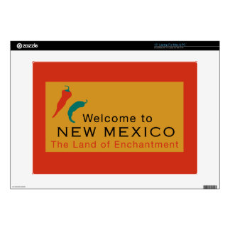 """Welcome to New Mexico - USA Road Sign Decal For 15"""" Laptop"""