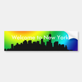 Welcome to New York bumper sticker