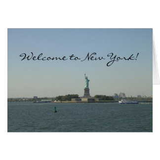 Welcome to New York!-Statue of Liberty Card