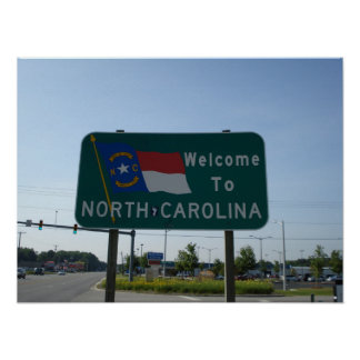 Welcome to North Carolina Poster
