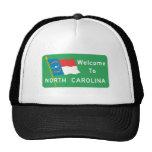 Welcome to North Carolina - USA Road Sign Mesh Hat