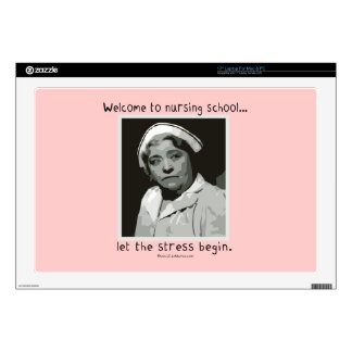 """Welcome to Nursing School 17"""" Laptop Decal"""