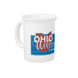 Welcome to Ohio - USA Road Sign Pitcher