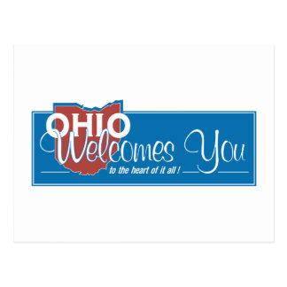 Welcome to Ohio - USA Road Sign Postcard