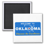 Welcome to Oklahoma - USA Road Sign Refrigerator Magnets