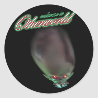 welcome to Otherworld funny zombie alien monster Classic Round Sticker