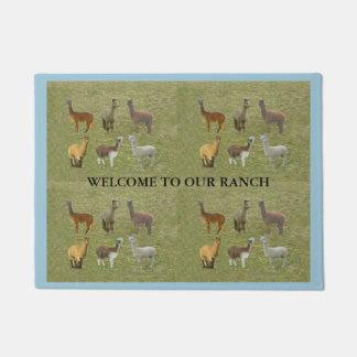 Welcome To Our Alpaca Ranch Doormat