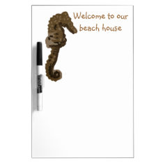 Welcome To Our Beach House Seahorse Dry Erase Board at Zazzle