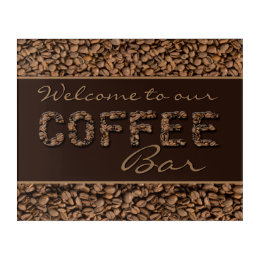 Welcome to our Coffee Bar Acrylic Print