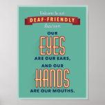 "Welcome to our deaf-friendly classroom. v2 poster<br><div class=""desc"">for the ASL classroom</div>"