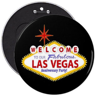 Welcome To Our Fabulous Las Vegas Anniversary Part Buttons