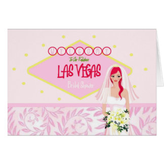 Welcome To Our Fabulous Las Vegas Bridal Shower Greeting Card