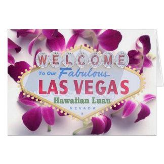 Welcome to our Fabulous Las Vegas Hawaiian Luau In Card