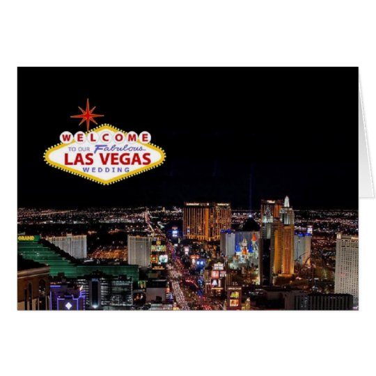Welcome To Our Fabulous Las Vegas Wedding Card