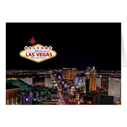 Welcome to Our Fabulous Las Vegas Wedding Invitati Card