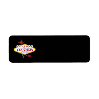 Welcome To Our Fabulous Las Vegas Wedding Label Return Address Label