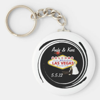Welcome to Our Fabulous Las Vegas Wedding personal Basic Round Button Keychain