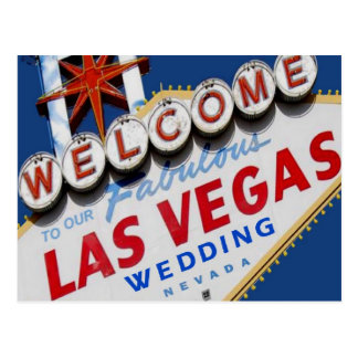 Welcome To Our Fabulous Las Vegas WEDDING Postcard