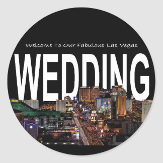 Welcome To Our Fabulous Las Vegas WEDDING Sticker