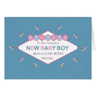 Welcome To Our Fabulous New Baby Boy LV Card