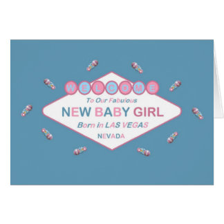 Welcome To Our Fabulous New Baby Girl LV Card