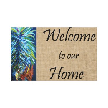 Art Themed Welcome to our Home Canvas Print