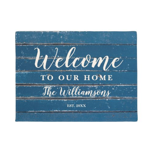 Welcome to Our Home Custom Vintage Weathered Wood Doormat