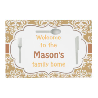 Welcome to our home placemat
