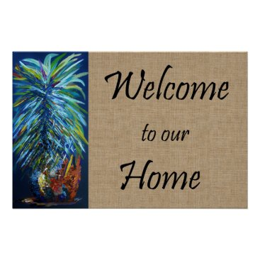 Art Themed Welcome to Our Home Poster