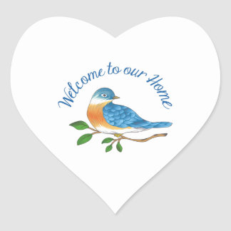 WELCOME TO OUR HOME HEART STICKERS