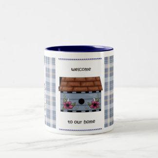 Welcome to Our Home Two-Tone Coffee Mug