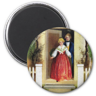 Welcome to Our Home Vintage Christmas 2 Inch Round Magnet
