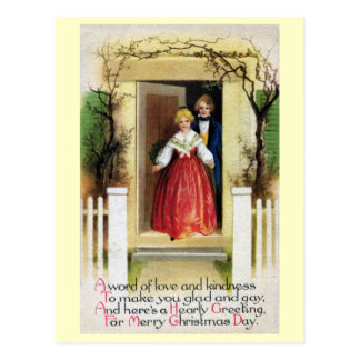 Welcome to Our Home Vintage Christmas Post Card
