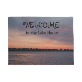 Welcome to our Lake House Doormat