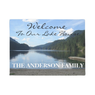 Welcome To Our Lake House Personalized Door Mat