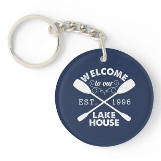 Welcome to our Lake House Personalized Keychain