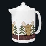 "Welcome to our neck of the woods moose teapot<br><div class=""desc"">design by Cheryl Seslar at www.digiwebstudio.com</div>"