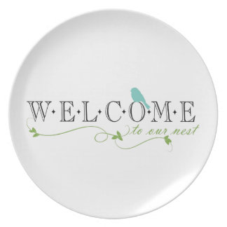 Welcome To Our Nest Quote Dinner Plate