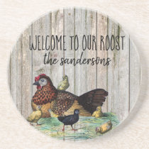 Welcome to our Roost - Country/Rustic Coasters